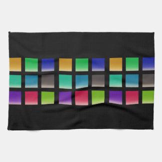 Het moderne Abstracte Patroon van Vierkanten Keukenhanddoek