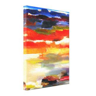 Het moderne Abstracte Schilderen van de Kunst van  Canvas Afdruk