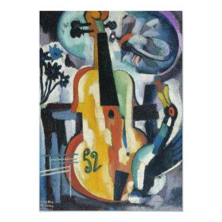 Het Moderne Art. van de Overweging van de viool 12,7x17,8 Uitnodiging Kaart