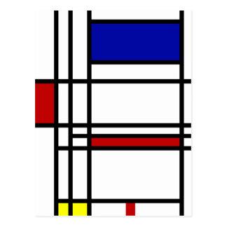 Het Moderne Art. van Mondrian Briefkaart
