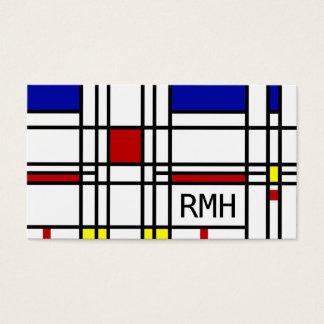 Het Moderne Art. van Mondrian Visitekaartjes