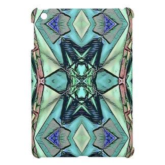 Het moderne Artistieke Patroon van de Blauwgroen Hoesjes Voor iPad Mini