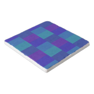 Het moderne Blauwe Patroon van het Palet Trivet