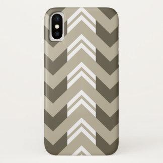 Het moderne Bruine, Beige, Witte Patroon van de iPhone X Hoesje