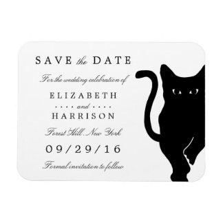 Het moderne Capricieuze Zwarte Huwelijk van de Kat Magneet