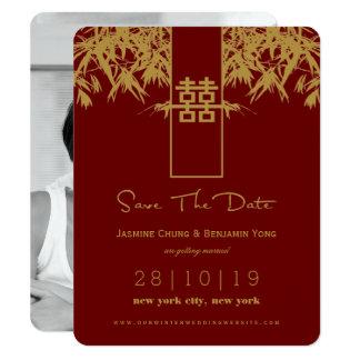 Het moderne Chinese Huwelijk van Zen van het 10,8x13,9 Uitnodiging Kaart