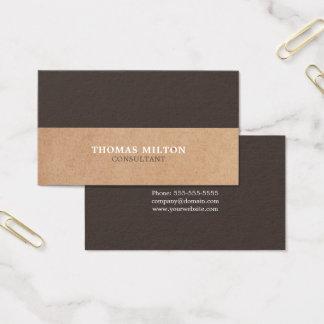 Het moderne Elegante Bruine Witte GEDRUKTE Visitekaartjes