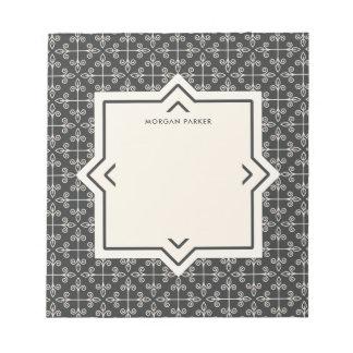 Het moderne Elegante Patroon van de Steenkool en Notitieblok