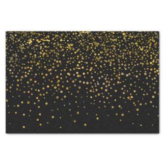 Het moderne Elegante Zwarte Gouden Stip van de Tissuepapier