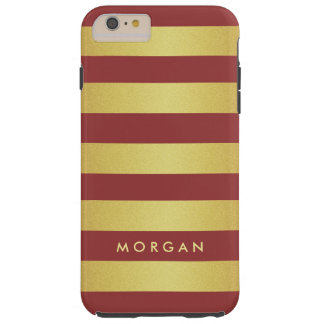 Het moderne en Trendy Goud van de Marsala Tough iPhone 6 Plus Hoesje
