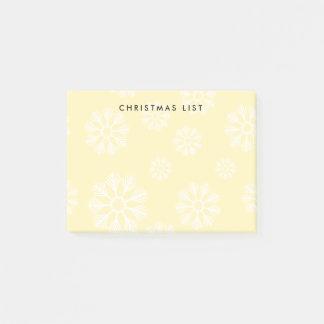 Het moderne Gele Patroon van de Sneeuwvlokken van Post-it® Notes