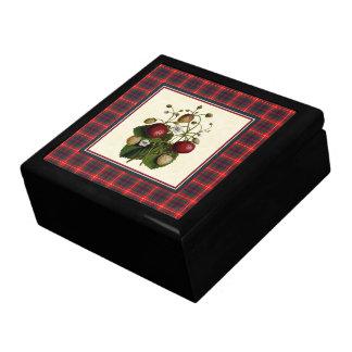 Het Moderne Geruite Schotse wollen stof van Fraser Decoratiedoosje