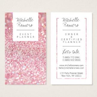 Het moderne girly faux roze schittert bokeh visitekaartjes