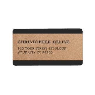 Het moderne Grijze Etiket van het Document van Addressticker
