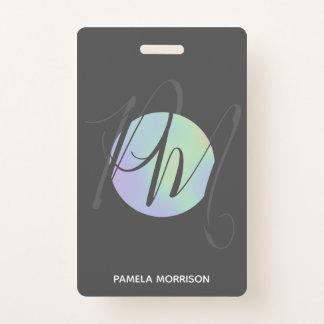 Het moderne Holografische Monogram van de Cirkel - Badge