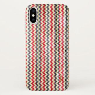 Het moderne Houten Patroon van de Chevron iPhone X Hoesje