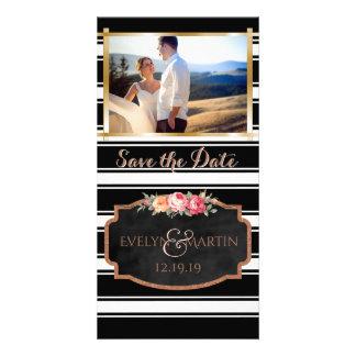 Het moderne Huwelijk sparen de Foto van de Datum Kaart
