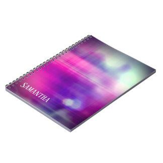Het moderne Kleurrijke Monogram van het Ontwerp Notitieboek