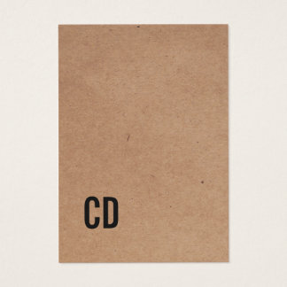 Het moderne Koele Zwarte Monogram van Kraftpapier
