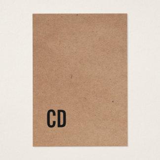 Het moderne Koele Zwarte Monogram van Kraftpapier Visitekaartjes