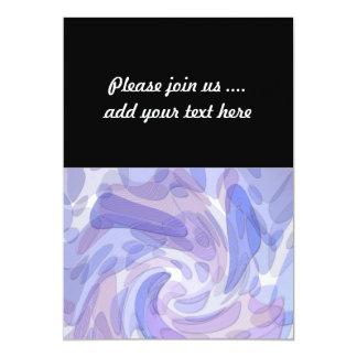 Het Moderne Kunstwerk van de paarse Abstracte 12,7x17,8 Uitnodiging Kaart