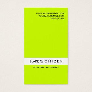 Het moderne Luide Groene Visitekaartje van het Visitekaartjes