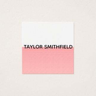 het moderne minimalistische visitekaartje van de vierkante visitekaartjes