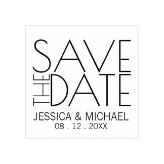 Het moderne Modieuze Huwelijk bewaart de Datum Rubberenstempel