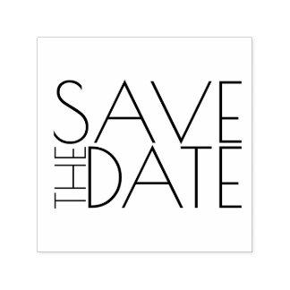 Het moderne Modieuze Huwelijk bewaart de Datum Zelfinktende Stempel