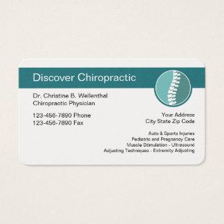Het Moderne Ontwerp van de chiropracticus Visitekaartjes