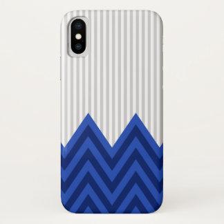 Het moderne Patroon van de Strepen van de Chevron iPhone X Hoesje