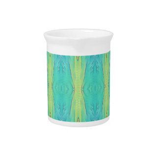 Het Moderne Patroon van het mooie Blauwgroen Drink Pitcher