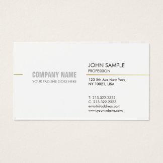 Het Moderne Professionele Elegante Wit van Visitekaartjes