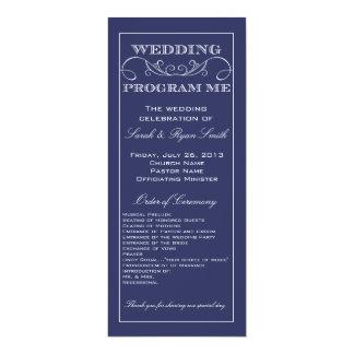 Het moderne Programma van het Huwelijk van de 10,2x23,5 Uitnodiging Kaart