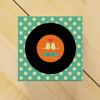 Het moderne Retro VinylHuwelijk van het Verslag Bedankjes Doosjes