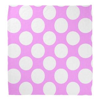 Het moderne Roze Witte Patroon van Stippen Bandana