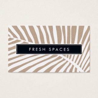 Het MODERNE TROPISCHE logo trendy wit kraftpapier Visitekaartjes