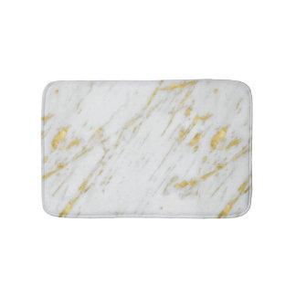 Het moderne Witte Marmer en het Goud schitteren Badmat
