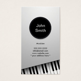 Het moderne Witte Visitekaartje van de Pianist/van Visitekaartjes