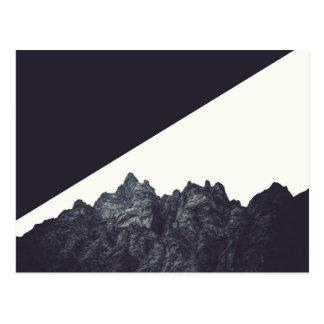 Het moderne Zwart-witte Rotsachtige Art. van de Briefkaart