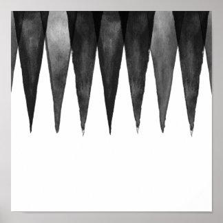 Het moderne zwarte grijs-witte patroon van de poster