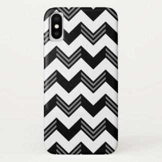 Het moderne Zwarte, Grijze, Witte Patroon van de iPhone X Hoesje