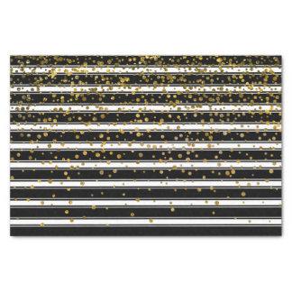 Het moderne Zwarte Witte Stip van de Confettien Tissuepapier