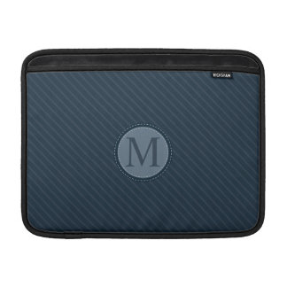 Het modieuze Blauwe Monogram van de Cirkel van de MacBook Beschermhoes