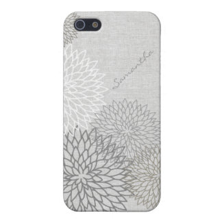 Het modieuze BloemenLinnen kijkt het Hoesje van iPhone 5 Cover