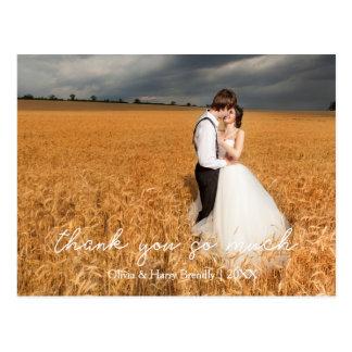 Het modieuze Huwelijk van het Land dankt u Briefkaart