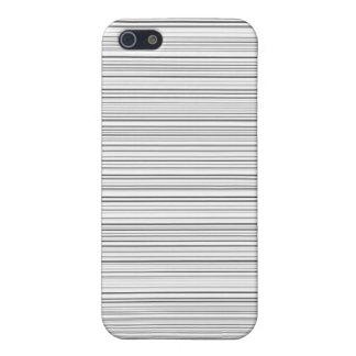 Het modieuze Ontwerp van Horizontale Lijnen in Zwa iPhone 5 Hoesje