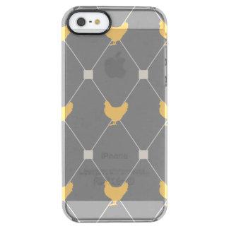 Het modieuze Patroon van de Kip van de Harlekijn Doorzichtig iPhone SE/5/5s Hoesje