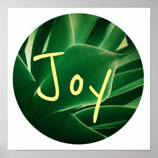Het modieuze Poster van de Vreugde van het Groene