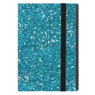 Het modieuze Turkooise Blauw schittert iPad Mini Hoesje